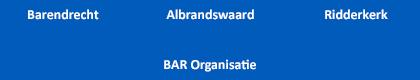 Organogram van de Bar Organisatie.